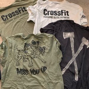 4 Reebok CrossFit shirts all size L